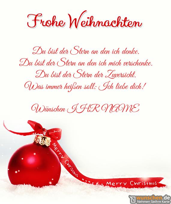 Frohe Weihnachten Ich Liebe Dich.Weihnachten Mit Rot Baumschmuck Erschaffen Ihre Eigene Karte Zum