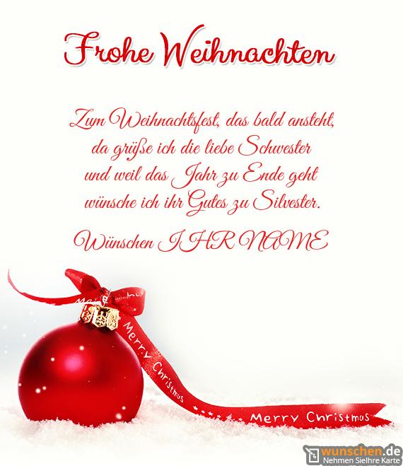 Weihnachten mit rot Baumschmuck - Erschaffen Ihre eigene Karte zum ...