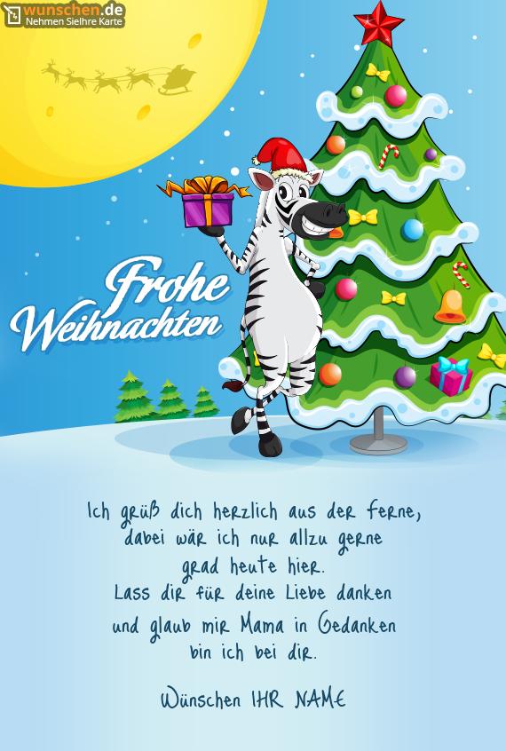 mit einem Zebra - Erschaffen Ihre eigene Karte zum Weihnachten